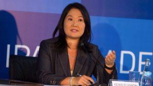 Keiko Fujimori durante allanamiento a local de FP