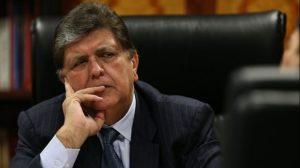 Alan García acudió a la Fiscalía