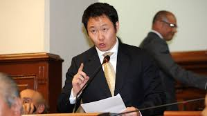 Kenji Fujimori en la juramentación del gabinete ministerial