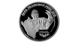 BCR lanza medalla de plata por visita del papa Francisco